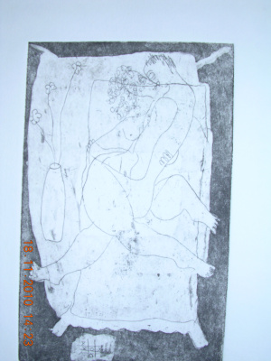 Etching 'is it love?'