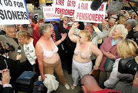 Pensioners whooping it up in Australia