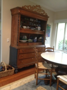 Old Cupboard and round table