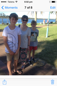 Holiday fun at Port Macquarie.
