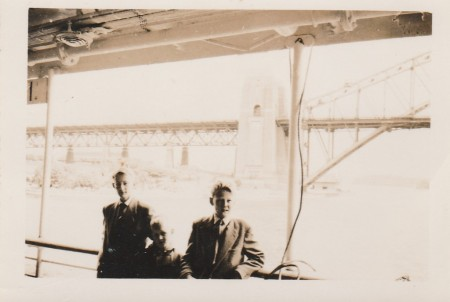 Me, Adrian and John after landing in Sydney 1956