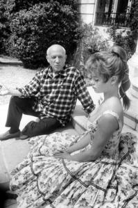 Picasso with Brigitte Bardot.