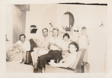 Our Dutch friends and us in their home 1956.