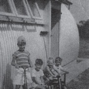 Typical Nissen hut in most migrant camps.