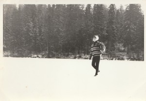 on the frozen lake of Ankeriasjarvi 1965.