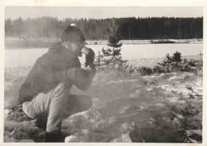 Boiling the 'billy' at Ankeriasjarvi at -20c