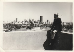 View from our apartment's rooftop in Sydney. 1966