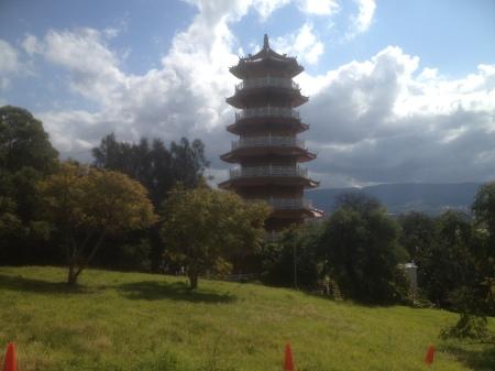 The Pagoda of Buddhist temple near Sydney.
